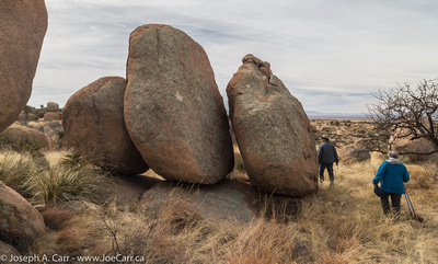 Three upright boulders