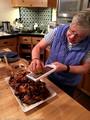 Lauri Roche preparing Moroccan Chicken