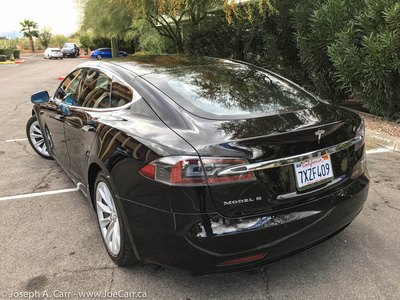 My freshly-detailed Tesla Model S rental