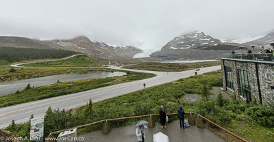 Columbia Icefield, from the Discovery Centre