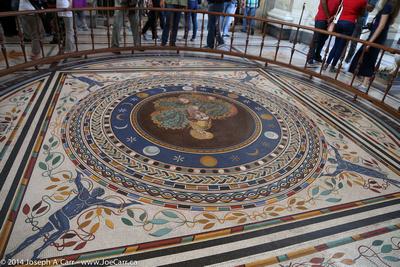 Second century mosaic floor
