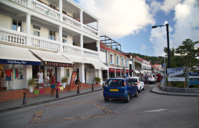 Main street in Gustavia