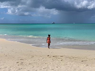 A little girl on Runaway Beach