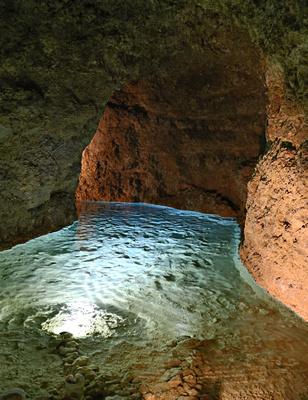 A flow of blue limestone