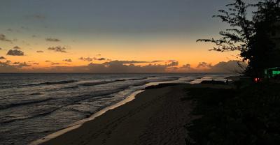 Sunset from Hastings Rocks beach