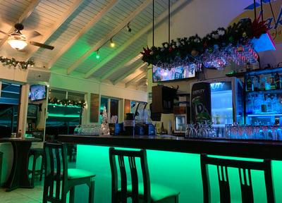 The bar area inside