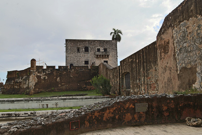 City fortifications and the Reconstructed Palace of Diego Colón