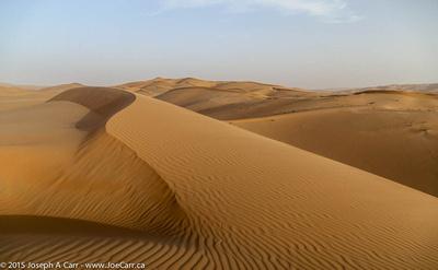 Ripples and ridgeline on the sand dunes
