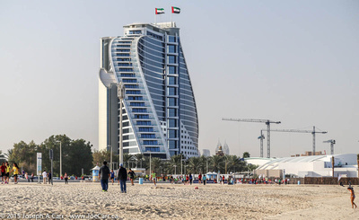 Jumeirah building and adjacent beach