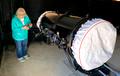 Diane installing shrouds on Garry's telescopes