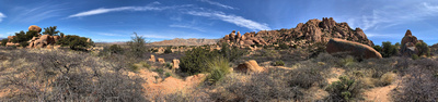 Panorama of boulder formations