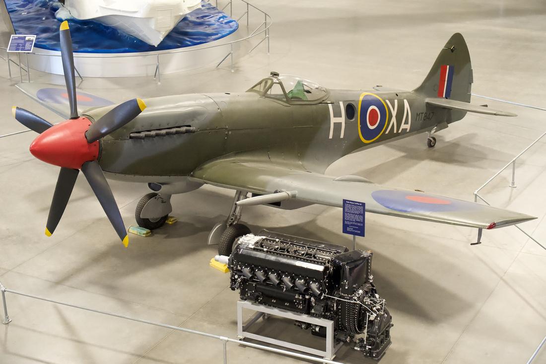 Supermarine Spitfire FR. XIVe & Rolls-Royce Griffon 65 engine