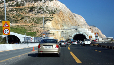 Expressway from Corinth to Athens, twin tunnels