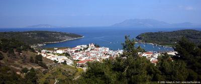 Coastal town of Archaia Epidavros