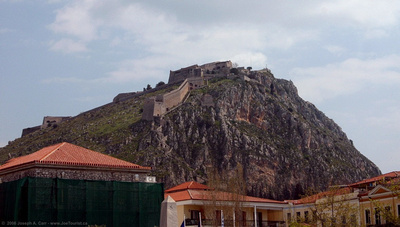 Palamidhi Castle on the hill behind Nafplio