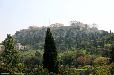 Reconstruction of the Acropolis as viewed from the Hephaisteion