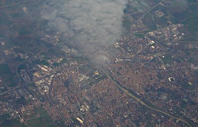 Aerial of an Italian city
