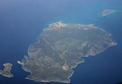 Agistri Island in the Saronic Gulf, Greece