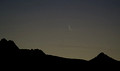 Very thin waning crescent Moon over the Dragoon Mountains in the pre-dawn