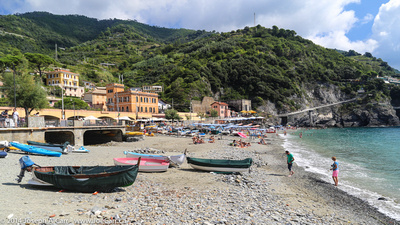 Old town beach at Monterosso