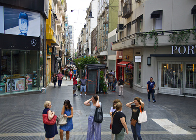 People enjoying one of the oldest streets and shopping areas