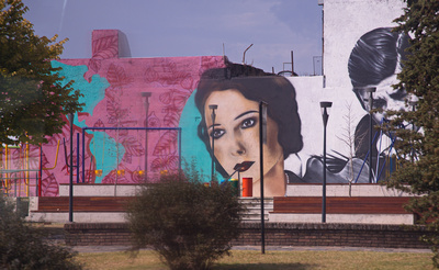 Murals opposite the Legislative Palace