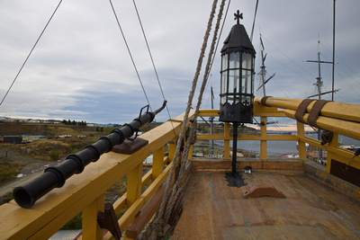 Stern deck with lantern
