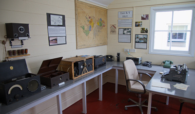 The R/T Hut - radio telephone service to camps