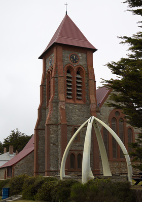 Christ Church Cathedral with whale bone gazebo