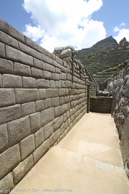 Precisely fitted Incan stone wall
