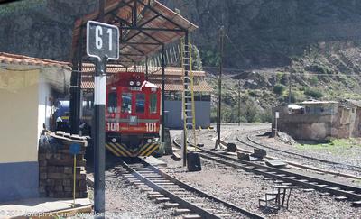 Rail yard at Jajpunco