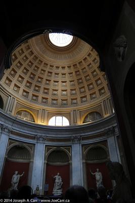 Sala Rotunda - shaped like a miniature Pantheon