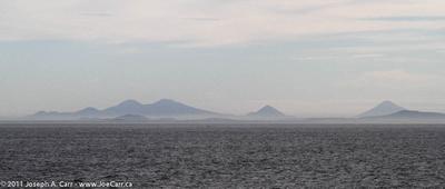 Volcanic peaks along the Nicaraguan coast