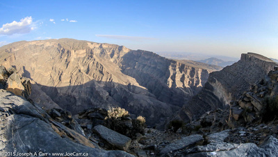 Wadi Ghul an hour before sunset