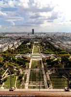 Champ de Mars from the first floor of the tower