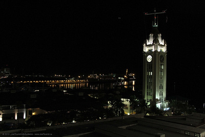 Aloha Tower after dark