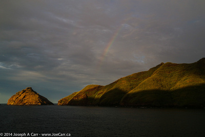 A rainbow to welcome us in the early morning to Taiohae harbour