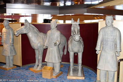 'Terra Cotta Warriors and Horses' reproductions of Xi'an, China originals