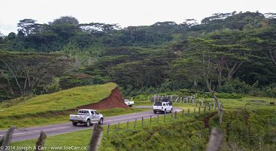 Driving through pasture land