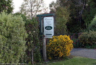 Warkworth Country House B&B sign