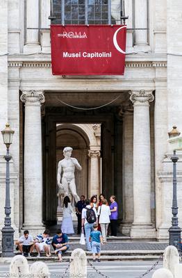 A copy of the David in the Musei Capitolini