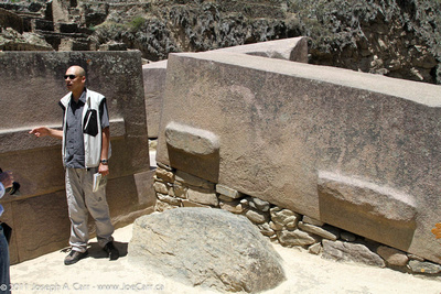 Our guide Boris Boret explaining how the stone slabs were made and moved