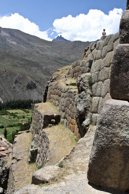 Incan stone wall and terraces