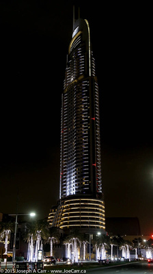 The Address Downtown Dubai hotel at night