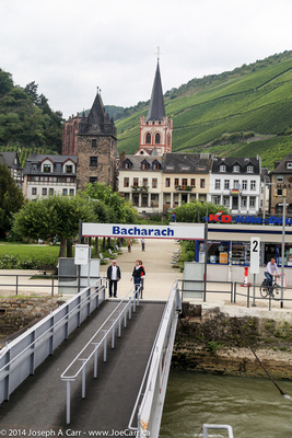Boat dock at Bacharach