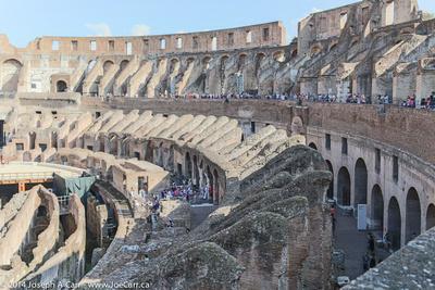 Colliseum raked seating area