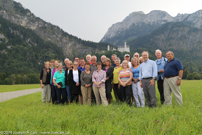 Group photo in Germany with Neuschwahstein Castle behind