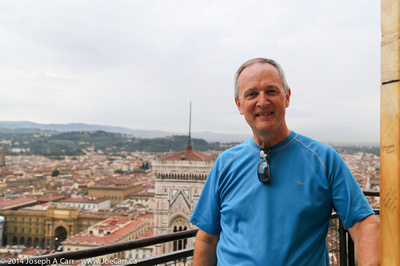 Joe at the top of the Duomo dome overlooking Florence