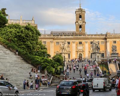 Cordonata descending from the Piazza del Campidoglio