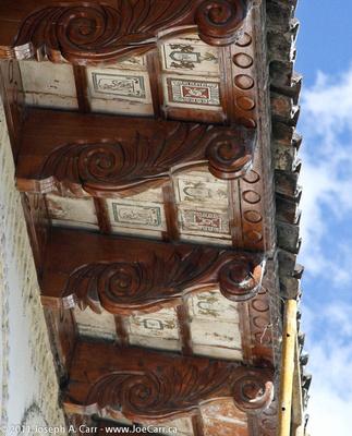 Tiles under roof